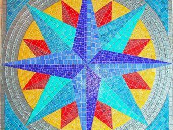 Atelier Andamento Mosaique - rose des vents - Carrelage De Piscine