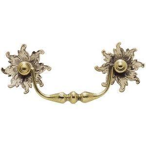 FERRURES ET PATINES - poignee de meuble en bronze avec rosace en soleil - Poign�e De Meuble