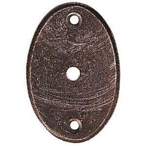 FERRURES ET PATINES - rosace ovale en fer viellie pour pourte d'interie - Porte Béquille