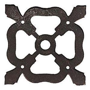 FERRURES ET PATINES - rosace en fer vieilli pour commode, armoire ou buf - Rosace De Porte