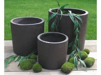 Deco Factory - cache-pot cylindrique natur � 34 cm - Cache Pot