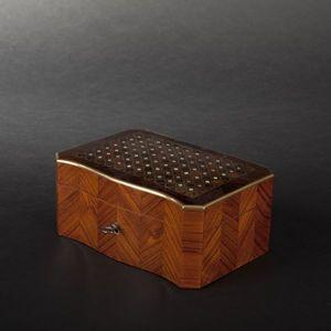 Expertissim - bo�te � mouchoirs en placage de bois de rose marqu - Boite � Mouchoirs