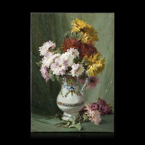 Expertissim - f. troupeau ? bouquet de chrysanthèmes - Tableau Décoratif