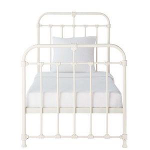 Maisons du monde - lit blanc nicolas - Lit Simple