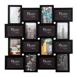 Maisons du monde - cadre 16 vues relief noir - Cadre Multi Vues