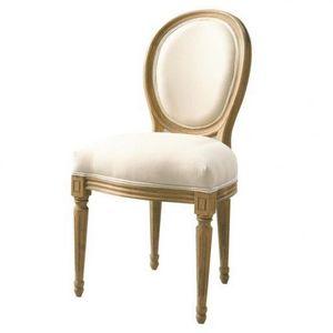 Maisons du monde - chaise ch�ne louis - Chaise M�daillon