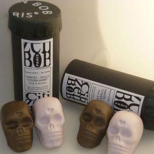 CITIZEN BIO - lot de 2 coffrets de 2 savons tête de mort couleur - Savon