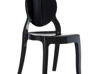 Alterego-Design - chaise design 'eliza' noire - Chaise M�daillon