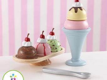 KidKraft - service coupe glac�e en bois pour enfant - Jeu D'�veil