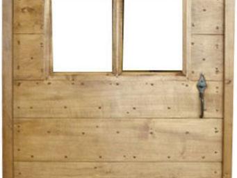 Portes Anciennes - mod�le � lames crois�es en tilleul vitr�e - Porte De Communication Vitr�e