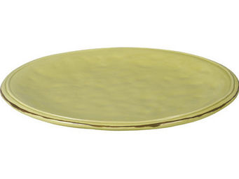 Athezza Home - ass. plate cotta vert anis d25,2cm - Assiette Plate