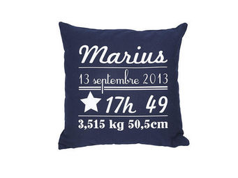 BY MATAO - coussin naissance bleu marine - Coussin Enfant