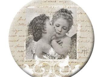 Mathilde M - badge grand modèle anges amoureux - Badge