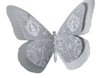 Mathilde M - papillon double � pince volutes - D�cor �v�nementiel