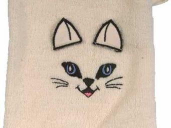 SIRETEX - SENSEI - gant de toilette enfant en forme de chat - Gant De Toilette
