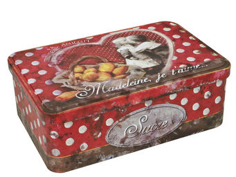 Orval Creations - bo�te � sucre madeleine, je t'aime - Boite � Th�