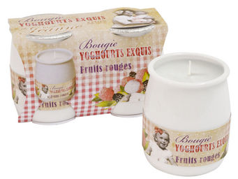 Orval Creations - bougies yoghourts exquis parfum�es fruits rouges - Bougie Parfum�e