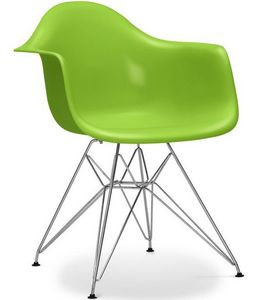 Charles & Ray Eames - chaise eiffel ar verte charles eames lot de 4 - Chaise Réception