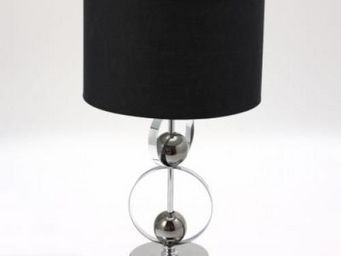 Up Trade - lampe pied metal boule - Lampe De Chevet