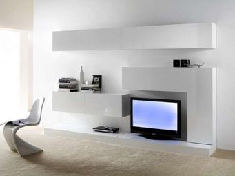 ACHATDESIGN - meuble tv mural purete blanc - Meuble De Salon Living