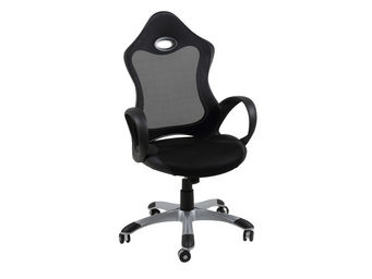 ACHATDESIGN - chaise de bureau rey noir - Chaise De Bureau