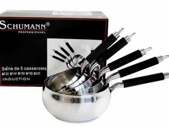 SCHUMANN PROFESSIONNEL - serie de 5 casseroles schumann pro induction silic - Casserole