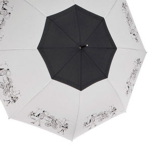 WHITE LABEL - parapluie droit femme manche canne en caoutchouc d - Parapluie