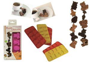 WHITE LABEL - moules à chocolats 10 pièces - Moule À Gâteau