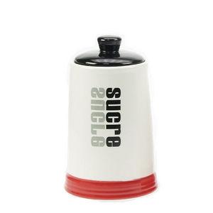 WHITE LABEL - pot de cuisine collection words en grès décoration - Pot À Épices
