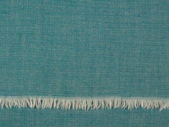 BLANC D'IVOIRE - uni turquoise - Plaid
