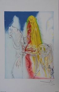 ARMAND ISRA�L - lady godiva de salvador dali lithographi - Lithographie