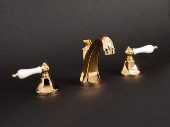 Cristal Et Bronze - charlety porcelaine - Mélangeur Lavabo 3 Trous