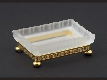 Cristal Et Bronze - cristal satin� - Porte Savon � Poser