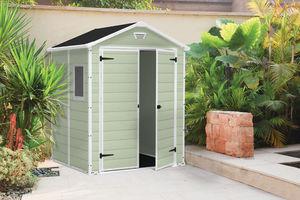 Chalet & Jardin - abri premium 65 vert double porte en résine 185x15 - Abri De Jardin Résine