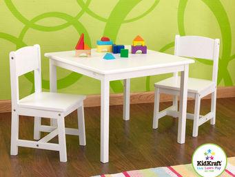 KidKraft - salon table et chaises pour enfant en bois blanc - Table De Jeux Pour Enfant