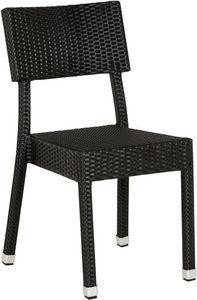 KOKOON DESIGN - chaise résina en osier tressé synthétique noir 56x - Chaise De Jardin