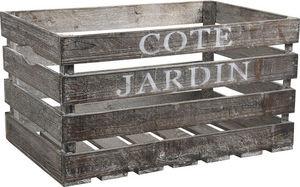 Aubry-Gaspard - caisse côté jardin en bois 55x36x30cm - Caisse De Rangement