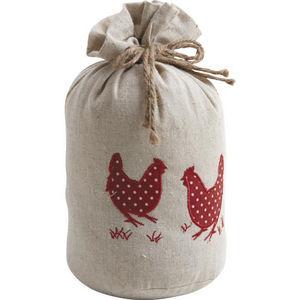 Aubry-Gaspard - cale-porte poules 1,5kg coton lin - Cale Porte