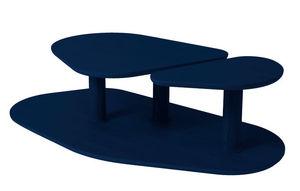 MARCEL BY - table basse rounded en chêne bleu nuit 119x61x35cm - Table Basse Forme Originale