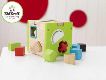 KidKraft - jeu de formes cube en bois 13x13x13cm - Jeu D'�veil