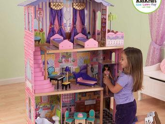 KidKraft - maison de poup�es r�ve rose en bois 87x34x126cm - Maison De Poup�e