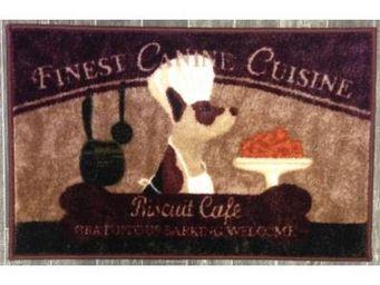 ILIAS - tapis de cuisine chien biscuit café 50 x 80 cm - Tapis D'évier