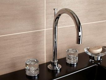 Cristal Et Bronze -  - M�langeur Lavabo 3 Trous