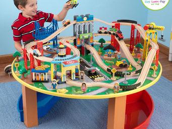 KidKraft - ensemble table et train explorateur en bois 102x10 - Petit Train