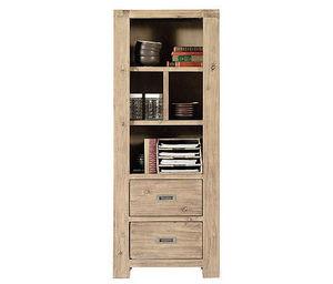 INWOOD - biblioth�que 2 tiroirs nevada en acacia 65x35x165c - Colonne De Rangement