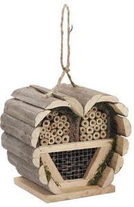 Aubry-Gaspard - maison à insectes coeur en bois 15.5x11x13.5cm - Maison D'oiseau