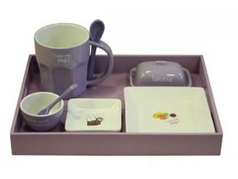 Cm - plateau petit d�jeuner - couleur - violet - Service Petit D�jeuner