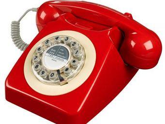 WHITE LABEL - t�l�phone 746 rouge - T�l�phone D�coratif