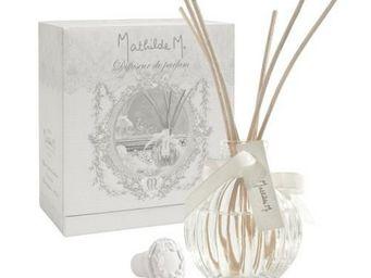 Mathilde M - diffuseur de parfum côtelé, parfum lait de figue - - Diffuseur De Parfum Par Capillarité