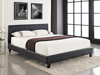 BELIANI - lit à eau arles noir 160x200 cm - Lit À Eau